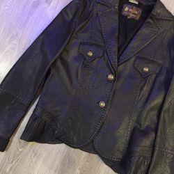 Natur. Leather jacket wgw
