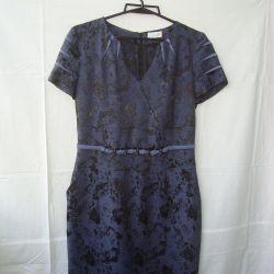 Dress office 44 viscose, fabric