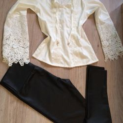 Fashionable leggings overstated waist / shirt