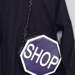 A purse on a chain