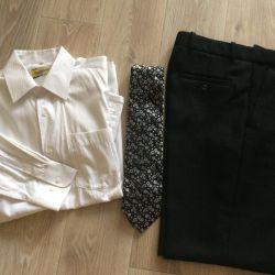 Gömlek + Pantolon + Kravat
