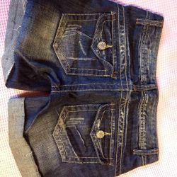 Pantaloni scurți jeans cu buzunare noi