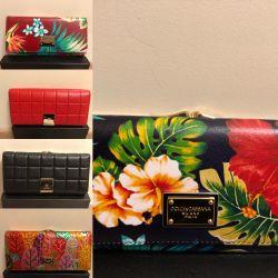 Γυναικείο πορτοφόλι κόκκινο μαύρο