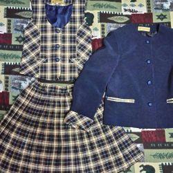Full set of school uniform (jacket, vest and w