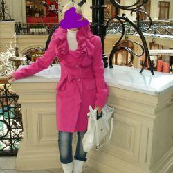 Пальто и ботильоны в цвет
