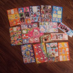 Stickers, bookmarks, calendars