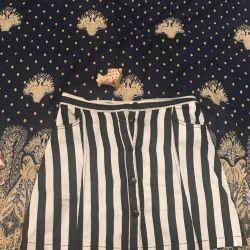 ASOS Denim Skirt with Striped 46