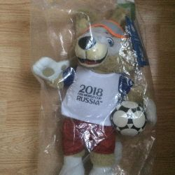 Football World Cup mascot Zabivaka soft toy
