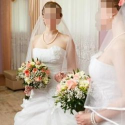 Wedding dress will give for 5000 and free skirts