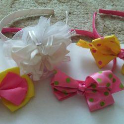 Headbands gum, barrettes