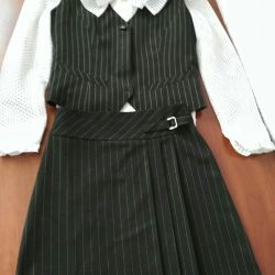 Stylish school suit for a girl