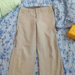 Брюки,светлые,джинс.стиля.
