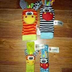 Socks on the rattle handles
