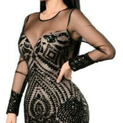 Evening dress with sequins