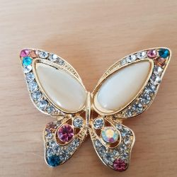 Brooch new butterfly, bumblebee