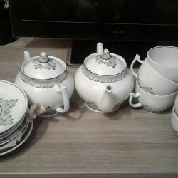 Set de ceai Verbilki din URSS nou
