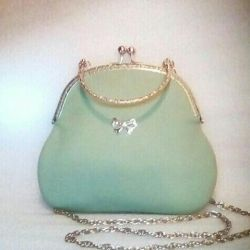 Designer leather mint handbag