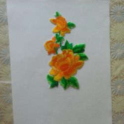New embroidery on a sticky basis, even where