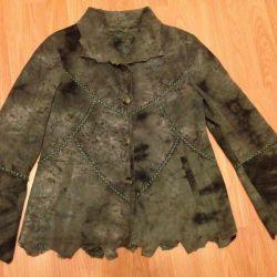 Куртка женская замшевая 48 р-р