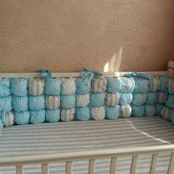 Новые!!!Бортики в кроватку. Бортики бомбон!