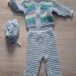 knitted suit warm