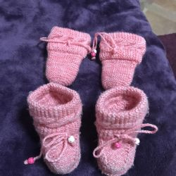 Booties and mittens