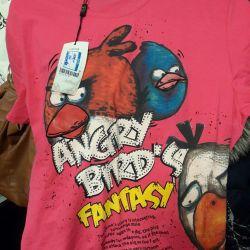 Tricou de păsări înfuriate