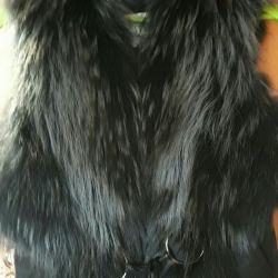 Fur vest.