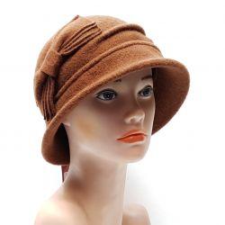 Шляпа Tonak шерстяная женская (коричневый)
