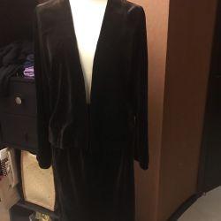 The suit is velvet