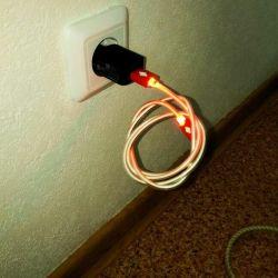 USB cable, glows. 100 rub.