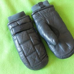 Winter leather mittens Take Two -33