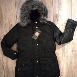 Новая Куртка парка на девочку 140
