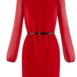 Luxurious scarlet dress