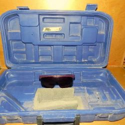 Case laser level case. With glasses