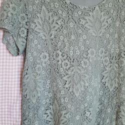 Bluz t-shirt dantel