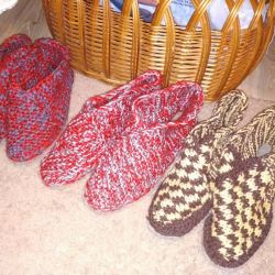Hand made slippers 36.37.38