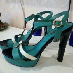 Sandals leather.38 basconi