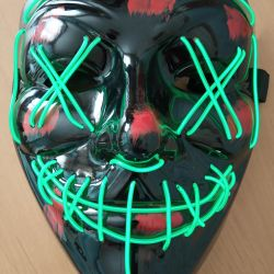 Luminous neon mask new
