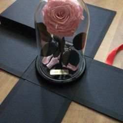Durable rose in a flask