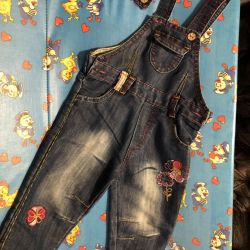 Jeans overalls for girl