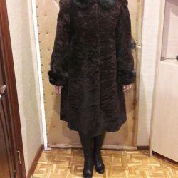 Fur coat mouton. 48 size