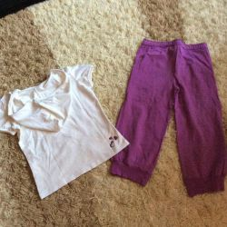 Children's sports suit (breeches and t-shirt)