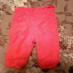 Kız başına bebek pantolonu (62 cm, 4-6 ay)