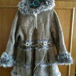 Sheepskin coat natural