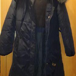 Пальто зима девичье 152на 11-12лет