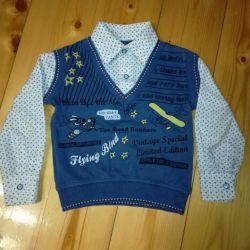 Poluver with a shirt for a boy