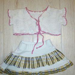 Shorts, skirt, t-shirt, ballerina