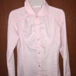 School shirts in assortment on 128-134