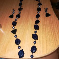 Beads (set) blue